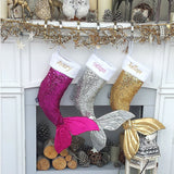 18 Inch Sequin Christmas Stockings