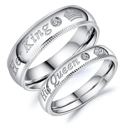 His Queen Her King Couples Ring for Lovers