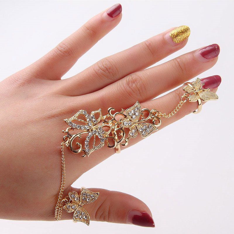 Attractive Butterfly Hollow Out Ring Women Dress Accessories