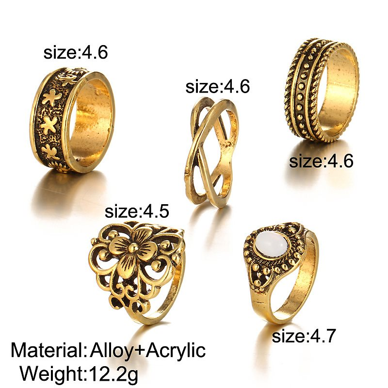 Elegant Punk Style Women Rings Jewelry Accessories