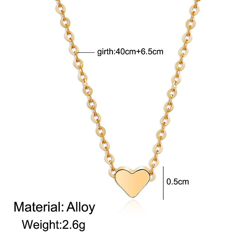 Women Heart Shape Necklace Daily Clothing Accessories Adult Chain Necklace