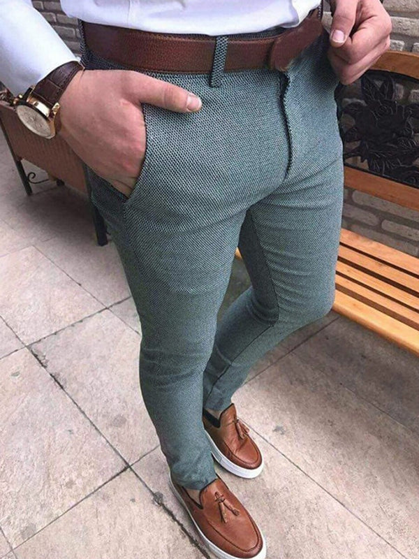 Men's High-Waist Sim Fit Casual Pants