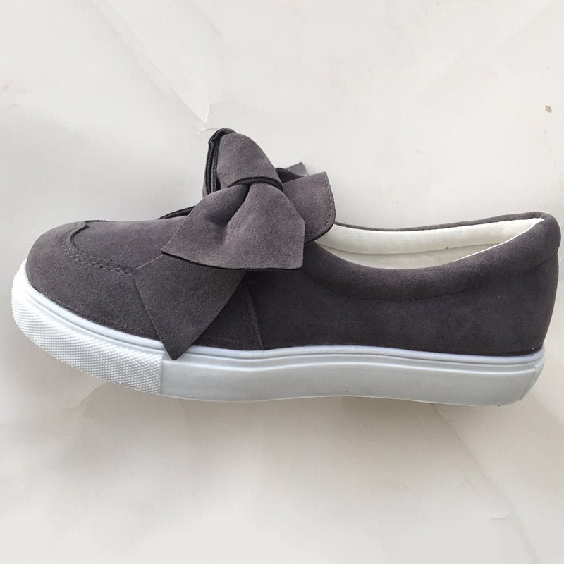 Mocassini donna Nubuck Casual Bowknot Shoes