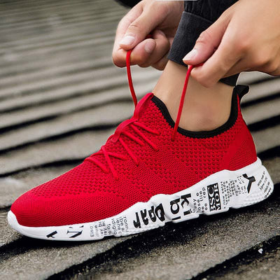 Glueing Lace-up Upper Cotton Casual Sneakers
