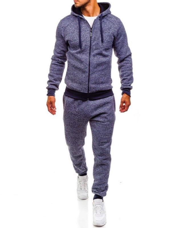 Zipper Stitching Men's Outdoor Casual Suit