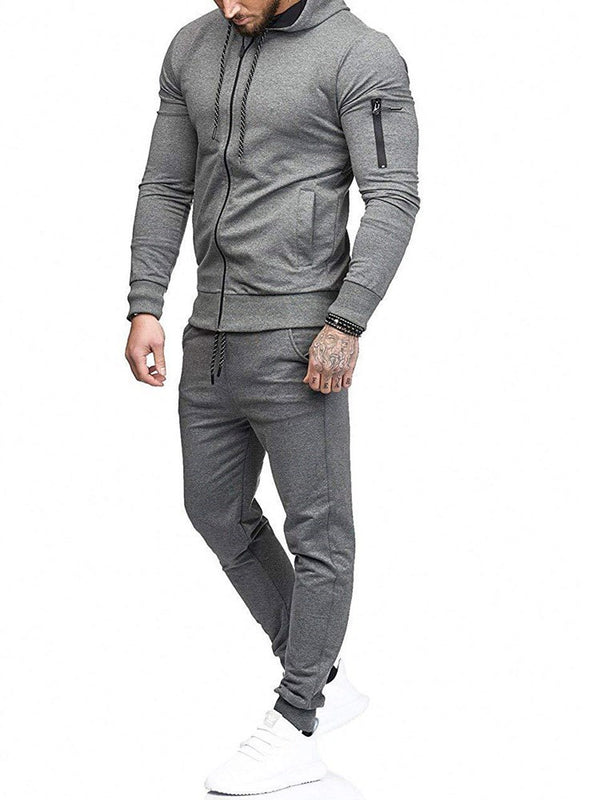Solid Color Casual Sports Men's Suit