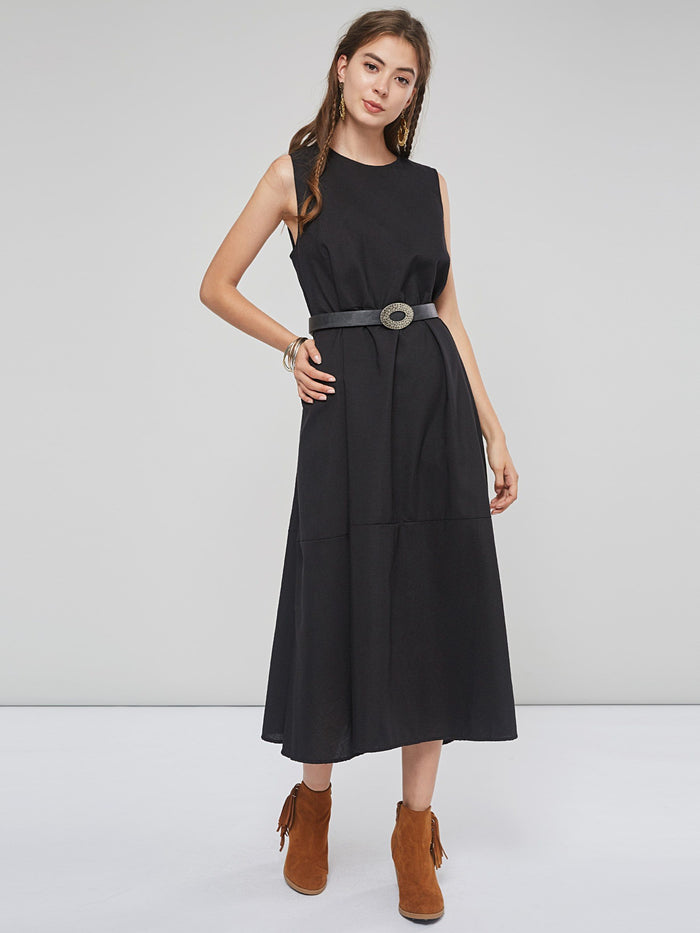 Summer Simple A Line Loose Women Casual Maxi Dress