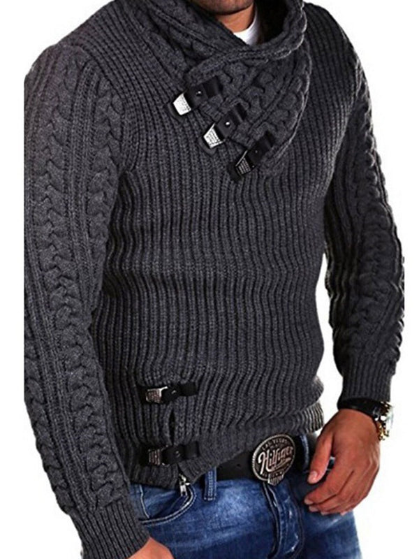 European Long Sleeve Winter Men's Slim Sweater