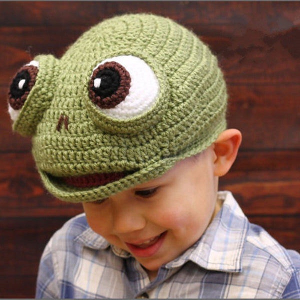 Cappello Super cute Green Frog Baby Boy
