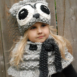 Cute Baby Girls Knitted Hat Winter Cartoon Hat