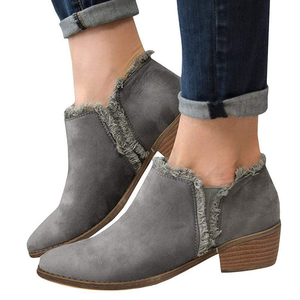 Fall Outdoor Casual Women's Boots Plus Side Shoes