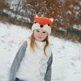 Cute Fox Child Winter Cartoon Knitting Baby Hat