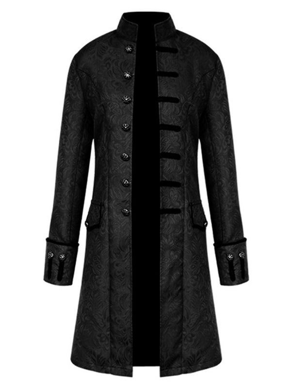 Men Frock Coat Steampunk Retro Tailcoat Jacket Gothic Vintage Cosplay Uniform