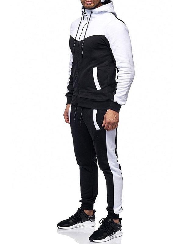 Patchwork Sports Casual Fall Men's Outfits