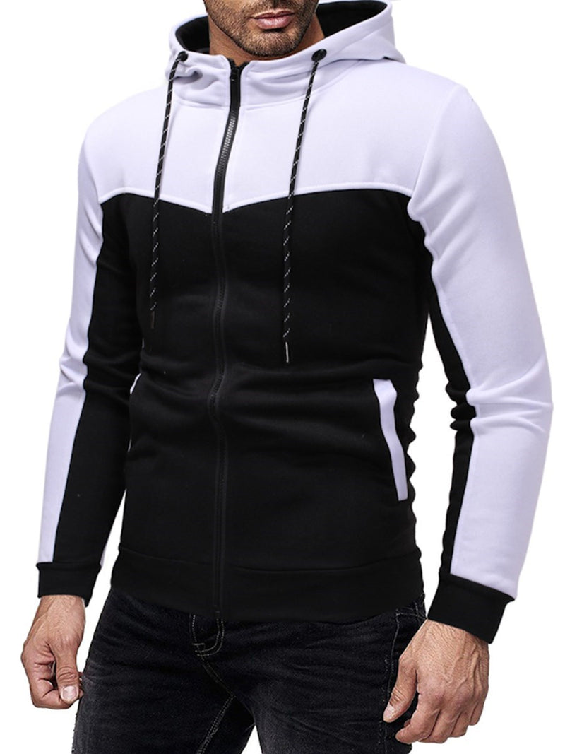 Patchwork Sports Casual Automne Tenue Homme