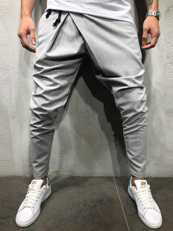 Mid-Waist Cotton Men's Casual Pants