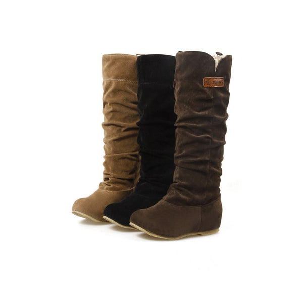 Casual Flat Round Toe Women's Boots