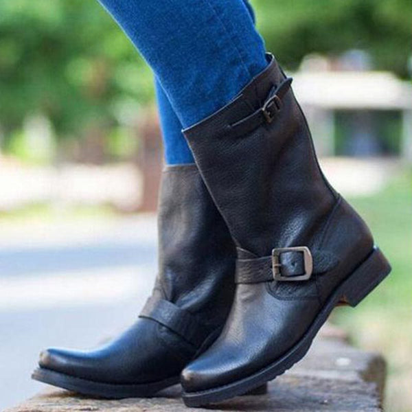 Low Heel Round Toe Fashion Women's Boots