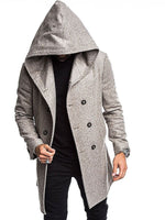 Fashionable Men's Autumn & Winter Pure Color Jacket Cotton Coat
