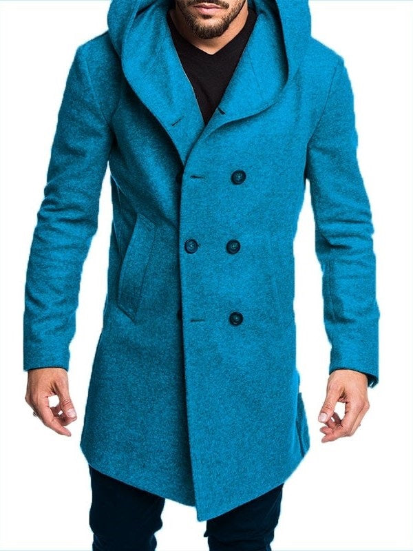 Modische Herren Herbst & Winter Pure Color Jacke Baumwollmantel