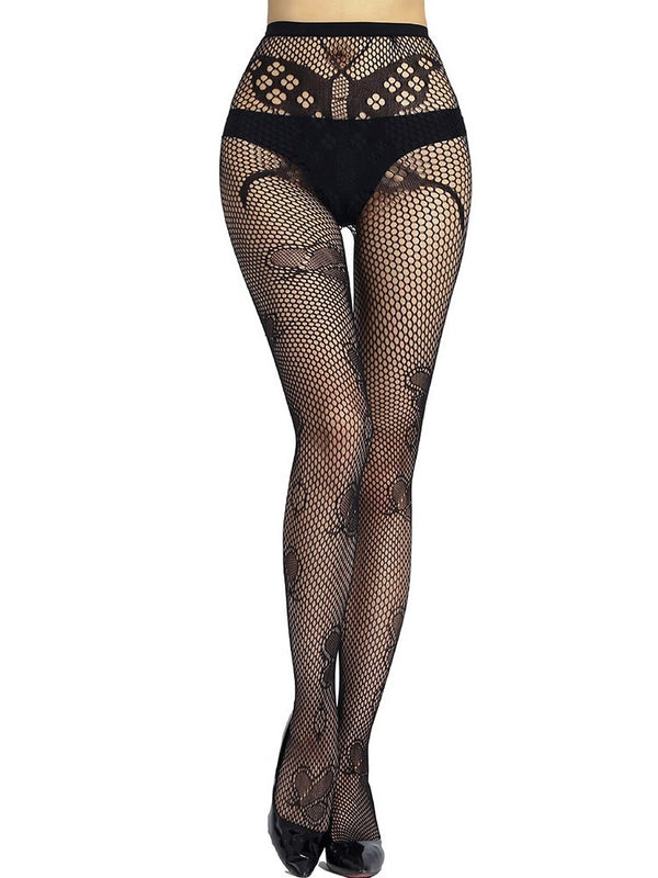 Butterfly Pattern Hollow Stockings