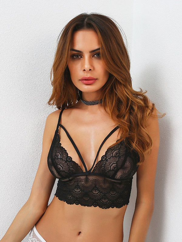 Black Lace Sexy Women Bra