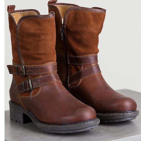 Winter Mid-Calf Zipper Round Toe Martin Boots