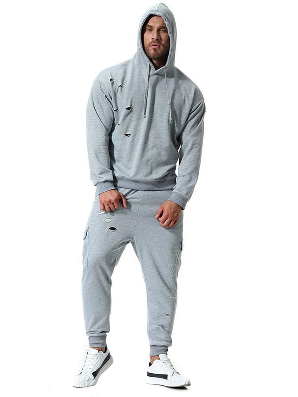 Sports Plain Hoodie Spring Outfit