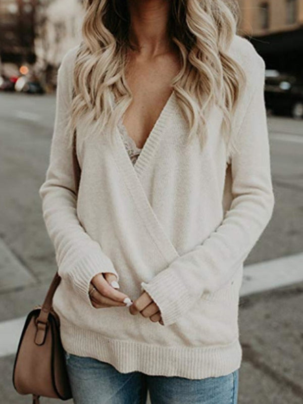 Mid-Length V-Neck Sweater