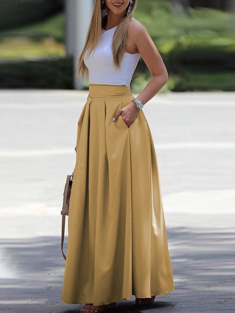 Ankle-Length Sleeveless Round Neck Western Summer Dresses