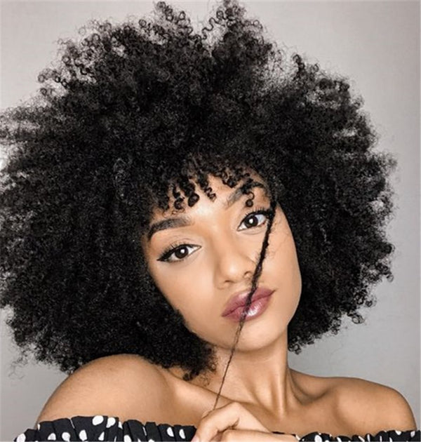 Synthetic Hair Afro Curly Capless Women 10 Inches Wigs