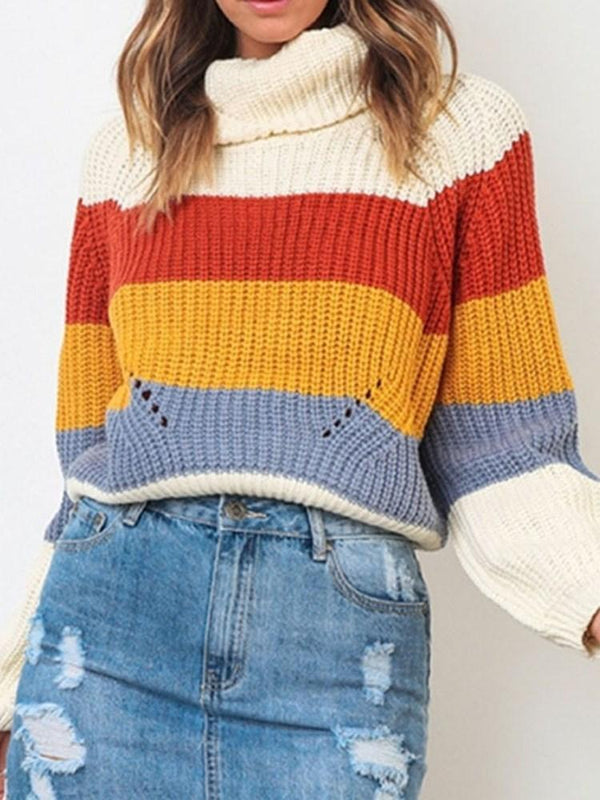 Raglan Sleeve Thin Turtleneck Standard Sweater