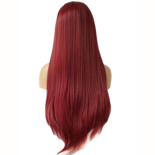 Lace Front Cap Women Loose Wave Synthetic Hair 150% Wigs
