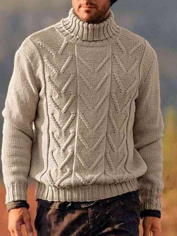 Turtleneck Plain Standard Winter Casual Sweater