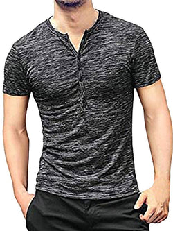 Casual Plain Round Neck Short Sleeve Slim T-shirt