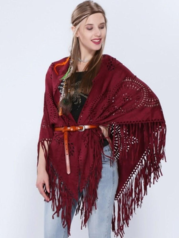 Einfaches Western Suede Fall Cape