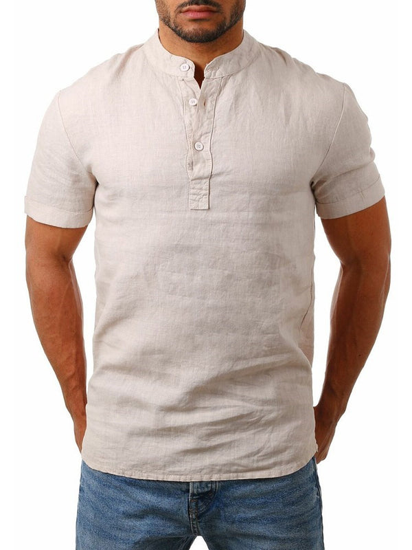 Plain Button European Loose Summer Shirt