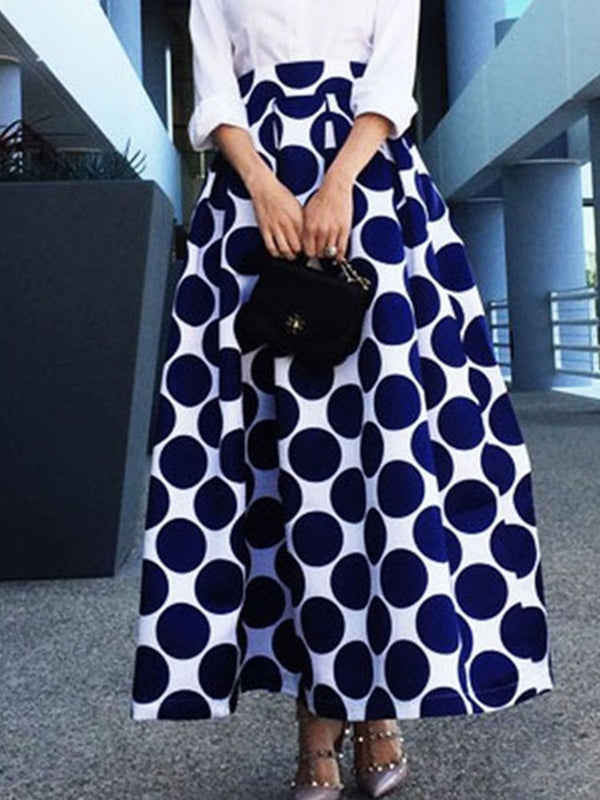 Expansion Print Ankle-Length Fashion Skirt