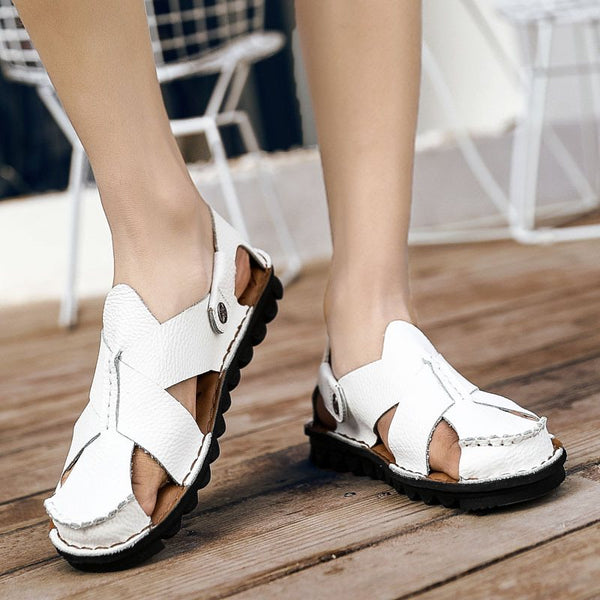 Slip-On Low-Cut-Sandalen mit runder Zehenpartie