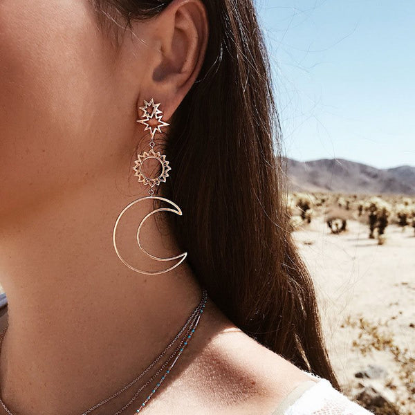 Ethnic Plain E-Plating Prom Earrings