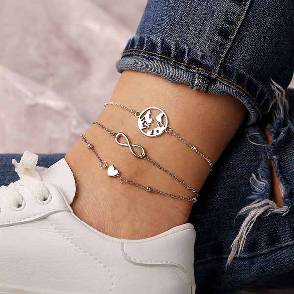 E-Plating Plain Sweet Anklets Anklets