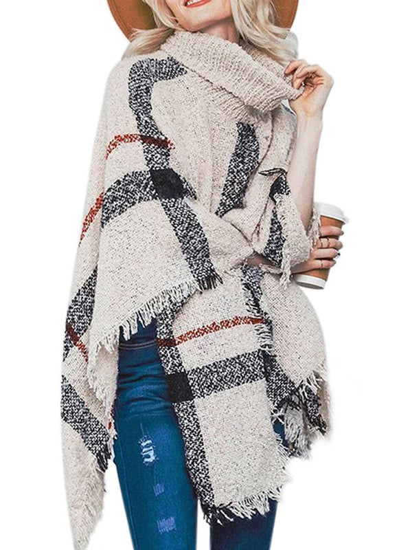 Inghilterra Plaid Thick Fall Cape