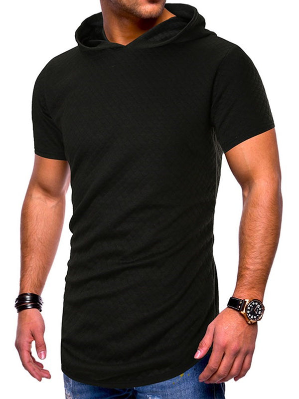 Lässige Kapuze Plain Short Sleeve Slim T-Shirt