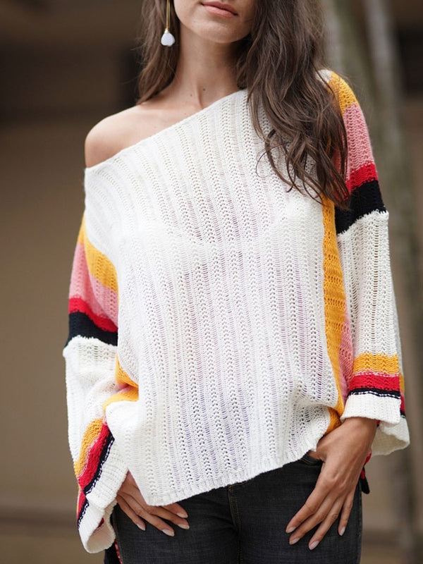 Pullover Color Block European Beach Tops