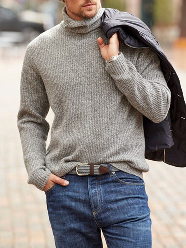Standard Plain Turtleneck Winter Loose Sweater