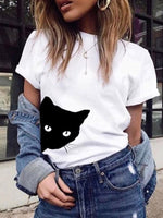 Standard Animal Short Sleeve Casual Summer T-Shirt