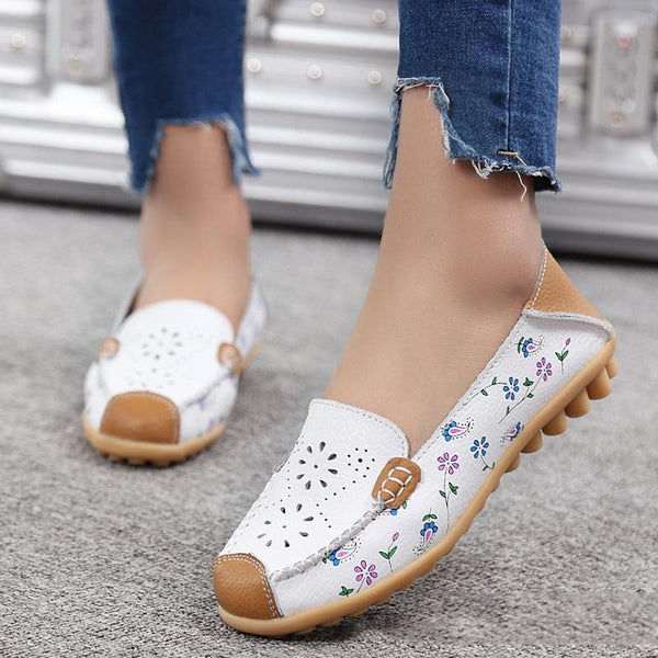 Slip-On Print Round Toe Low-Cut Upper Casual Thin Shoes