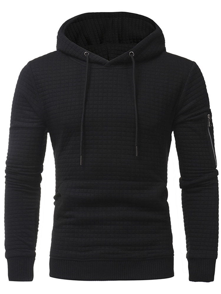 Pullover Lace-Up Slim Pullover Hoodies
