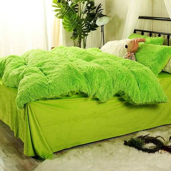 Piumino Super Green Aqua Super Soft 4-Piece Fluffy Bedding Sets / Copripiumino
