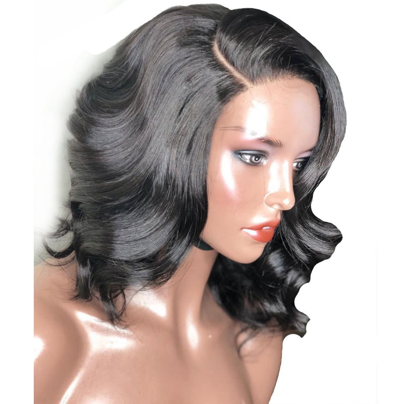 Women Synthetic Hair Big Curly Lace Front Cap 14 Inches Wigs